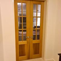 Cedar double doors