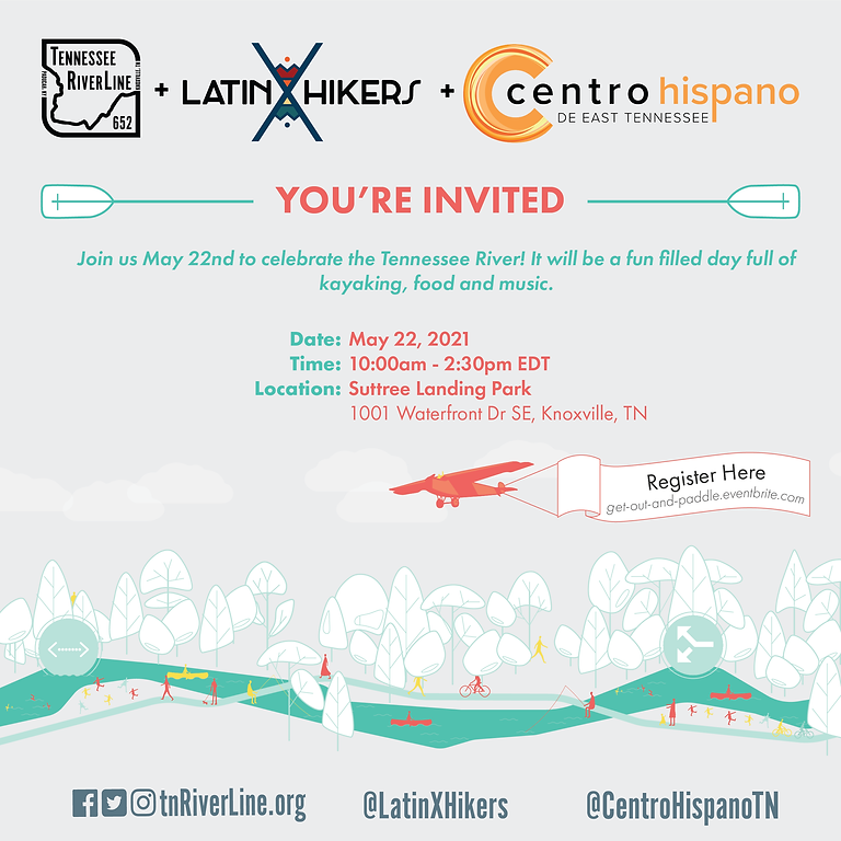 LatinXHikers + Centro Hispano + Tennessee RiverLine - Get Out and Paddle