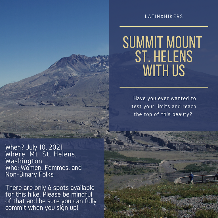Summit Mount St. Helens with Latinxhikers