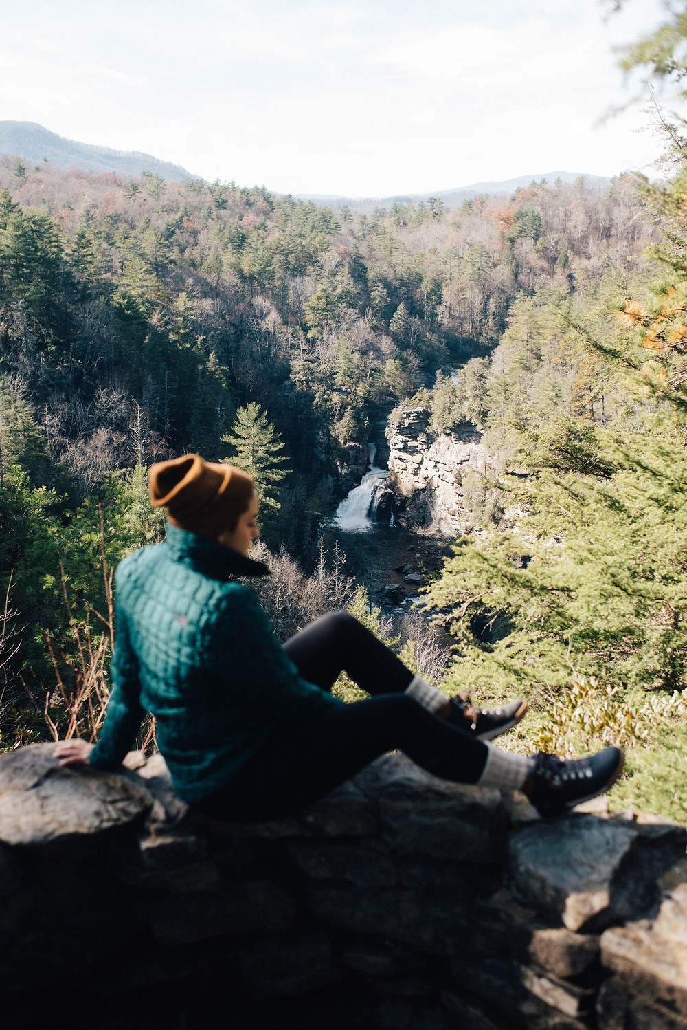 Adriana overlooking Linville Falls