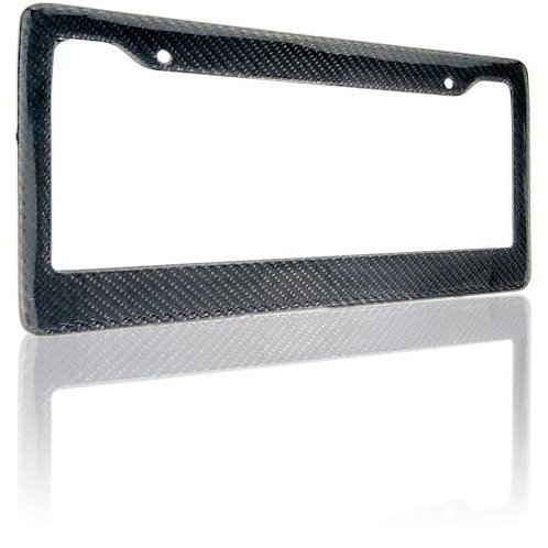 "Pure Carbon Fiber License Plate 12"" x 6"" Frame Cover"
