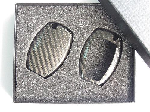Pure Carbon Fiber Key Case Cover for  Mercedes Benz