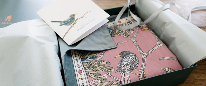 """Design Textile / Création de grand châle en laine """"Déjeuner dans l'arbre"""" pour """"Ania Axenova – Paris"""""""