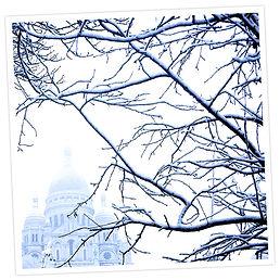 Paris, Montmartre, Sacré Coeur sous la neige