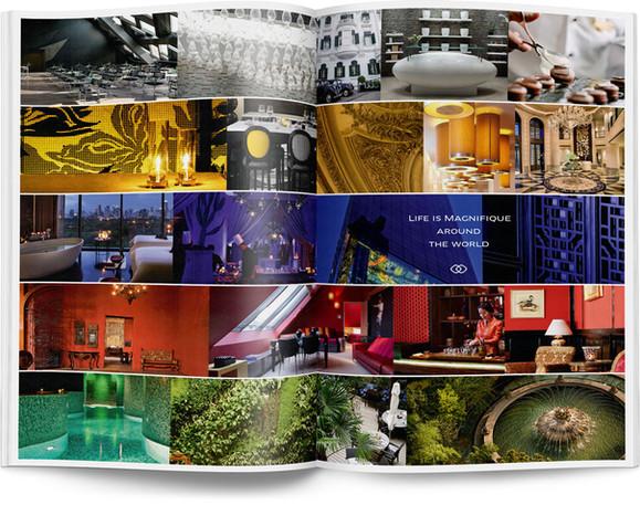Direction artistique et mise en page d'une brochure de 64pages pour Sofitel, Groupe Accor / pp 60-61