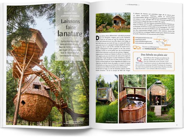 """Direction artistique et mise en page du magazine """"Voyages en Lorraine"""" 2016 / pp 10-11"""