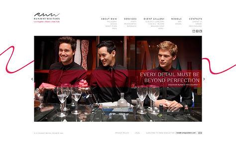 Direction artistique et UX design de site pour Runway Waiters | Home page slideshow