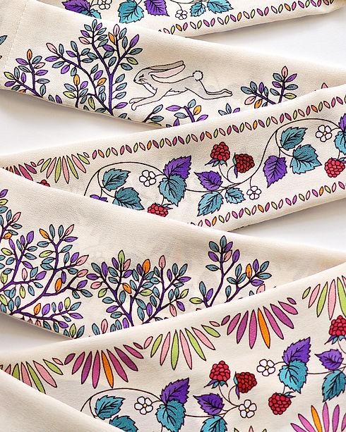 """Design Textile / Lavallière de soie """"Renard Imaginaire"""" pour """"Ania Axenova – Paris"""""""