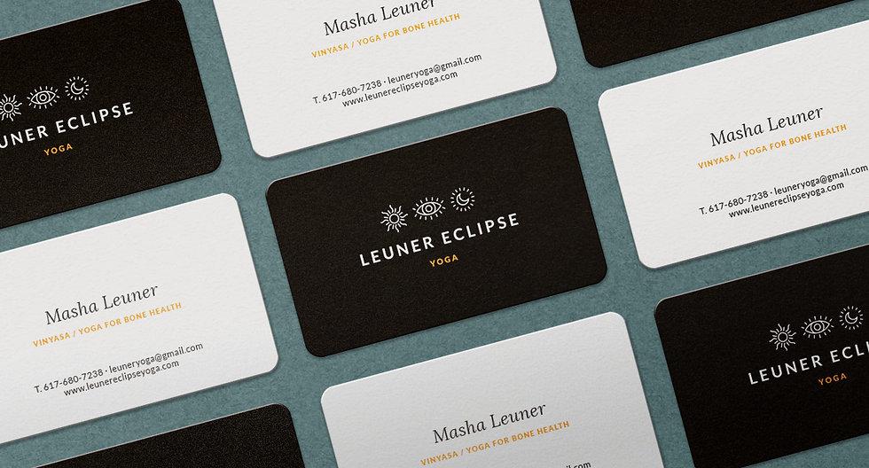 """Création du logo et de la charte graphique pour """"Leuner Eclipse Yoga"""" / Business card design"""