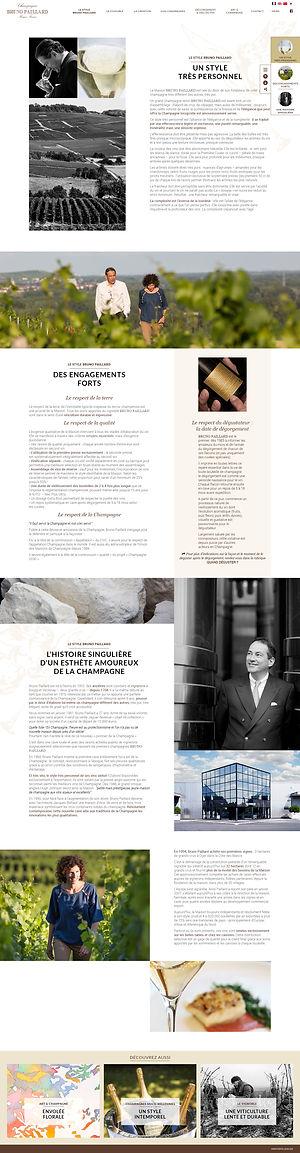 """Direction artistique et web-design de la page """"Le style Bruno Paillard"""" du site """"Champagne Bruno Paillard"""""""