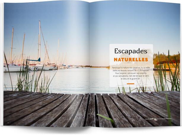 """Direction artistique et mise en page du magazine """"Voyages en Lorraine"""" 2016 / pp 4-5"""
