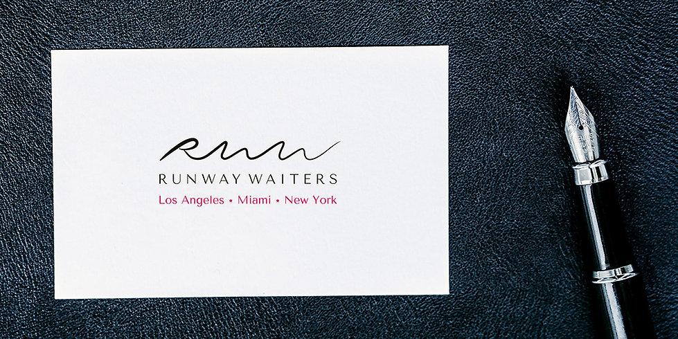 Logo et charte graphique pour Runway Waiters | Cartes de visites