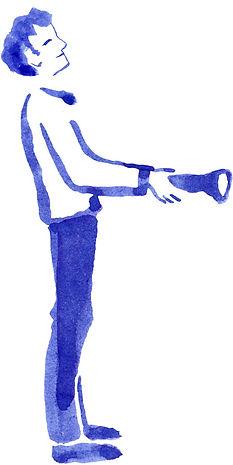 """Portrait de Jean illuminé / Illustration à l'encre de Chine pour """"Le Petit livre de la connaissance client par Néoprisme"""", Groupe Cartégie"""