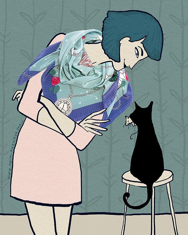 "Agathe and her Black Cat on Sunday: ""Proud Mama"""