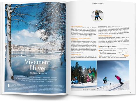 """Direction artistique et mise en page du magazine """"Voyages en Lorraine"""" 2016 / pp 46-47"""