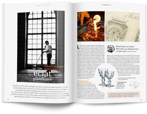 """Direction artistique et mise en page du magazine """"Voyages en Lorraine"""" 2015 / pp 38-39"""