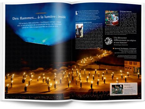 """Direction artistique et mise en page du magazine """"Voyages en Lorraine"""" 2016 / pp 30-31"""