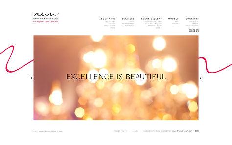 Direction artistique et UX design de site pour Runway Waiters | Home page