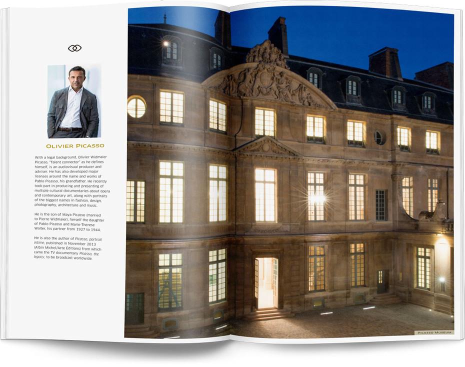 Direction artistique et mise en page d'une brochure de 64pages pour Sofitel, Groupe Accor / pp 12-13
