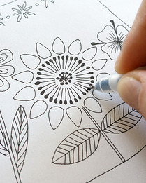"""Design de foulard en soie """"Alice au pays des Merveilles"""" pour """"Ania Axenova – Paris"""" - theiere"""