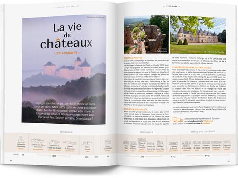 """Direction artistique et mise en page du magazine """"Voyages en Lorraine"""" 2016 / pp 22-23"""
