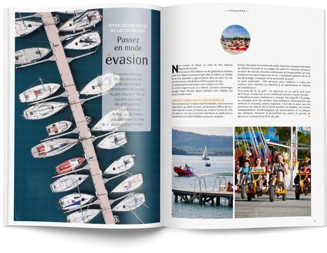 """Direction artistique et mise en page du magazine """"Voyages en Lorraine"""" 2015 / pp 6-7"""