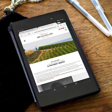 Design de site pour Champagne Bruno Paillard