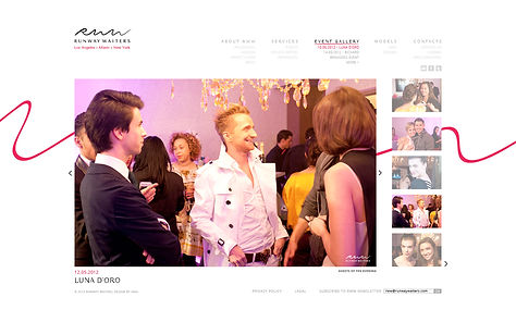 Direction artistique et UX design de site pour Runway Waiters | Events page