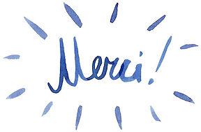"""""""Merci"""" Communication de marque / Calligraphie à l'encre de Chine / Lettering"""