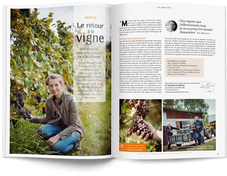 """Direction artistique et mise en page du magazine """"Voyages en Lorraine"""" 2015 / pp 54-55"""