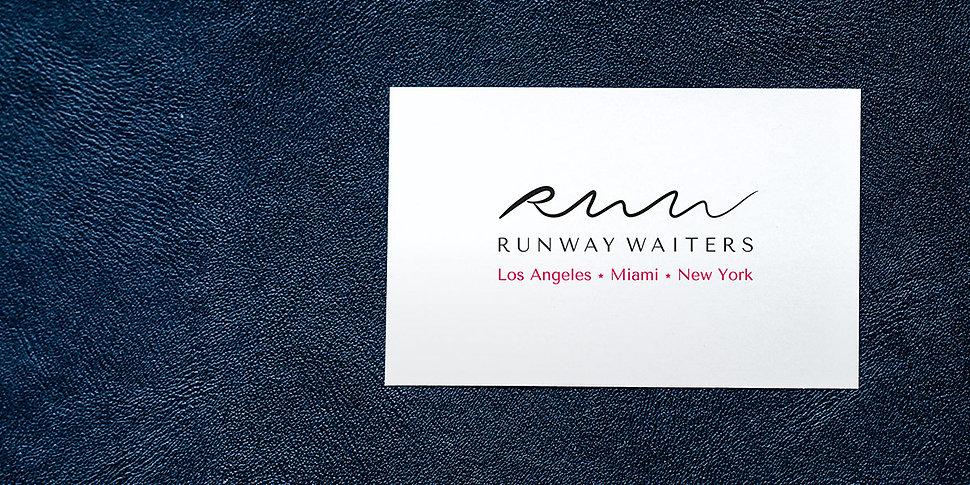 Logo et charte graphique pour Runway Waiters