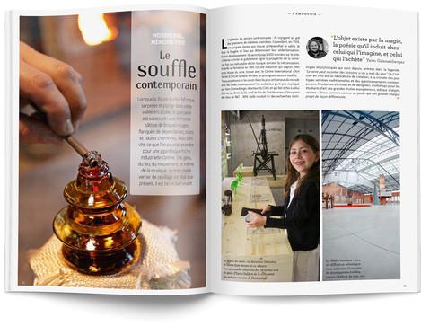 """Direction artistique et mise en page du magazine """"Voyages en Lorraine"""" 2015 / pp 32-33"""
