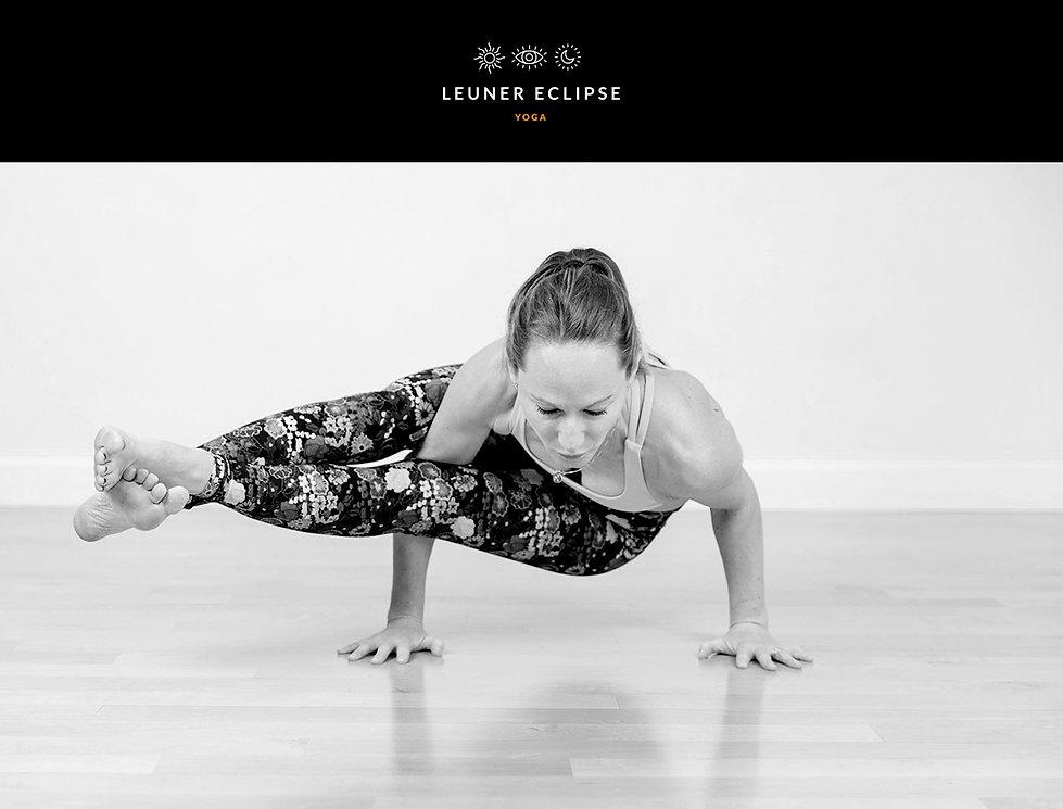"""Création du logo et de la charte graphique pour """"Leuner Eclipse Yoga"""" / Masha Leuner portrait"""