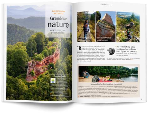 """Direction artistique et mise en page du magazine """"Voyages en Lorraine"""" 2015 / pp 12-13"""