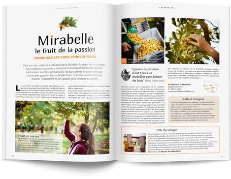 """Direction artistique et mise en page du magazine """"Voyages en Lorraine"""" 2015 / pp 50-51"""