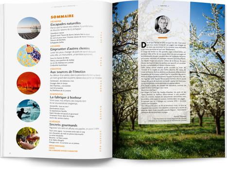 """Direction artistique et mise en page du magazine """"Voyages en Lorraine"""" 2016 / pp 2-3 / Sommaire et édito"""