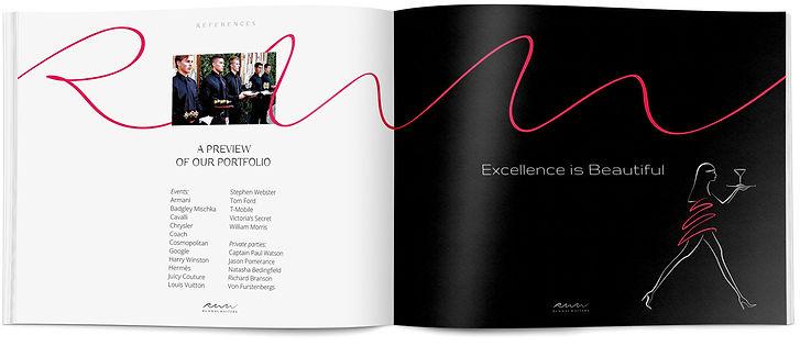 Direction artistique et mise en page d'une brochure institutionnelle pour Runway Waiters | pages intérieures
