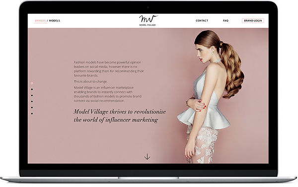 """Direction artistique et UX design pour le site vitrine """"Model Village"""""""