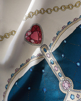 """Design de foulard """"Alice aux pays des merveilles"""""""