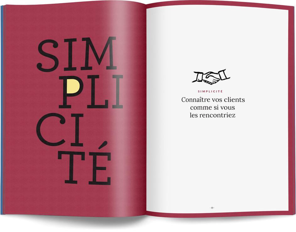"""Direction artistique, illustration et mise en page du """"Petit livre de la connaissance client par Néoprisme"""" pour le Groupe Cartégie / pp 18-19"""