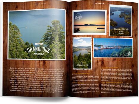 """Direction artistique et mise en page du magazine """"Voyages en Lorraine"""" 2016 / pp 6-7"""