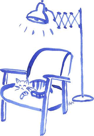 Illustrations à l'encre de Chine / chat