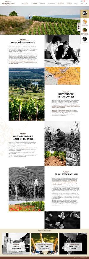 """Direction artistique et web-design de la page """"Le Vignoble"""" du site """"Champagne Bruno Paillard"""" / Page Histoire de la maison"""