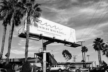 Direction artistique et illustration pour Runway Waiters | Billboard a Hollywood