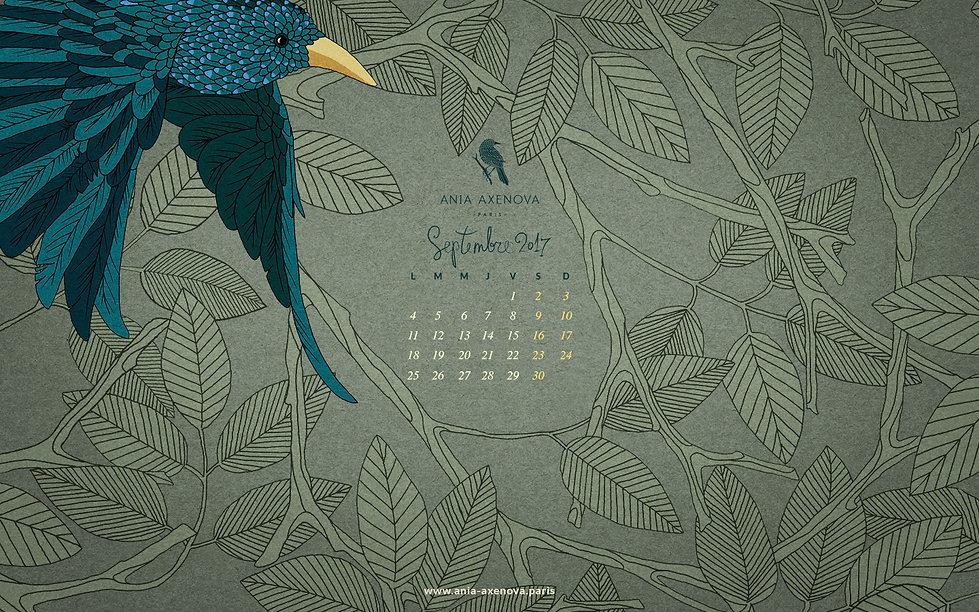 Illustration pour fond d'écran Oiseau Bleu