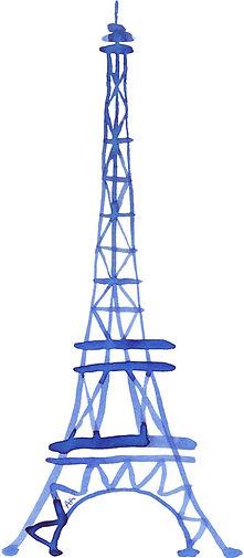 Illustrations à l'encre de Chine / Tour Eiffel