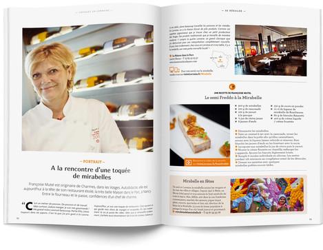 """Direction artistique et mise en page du magazine """"Voyages en Lorraine"""" 2015 / pp 52-53"""