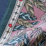 """Design Textile / Création de châle """"Déjeuner dans l'arbre"""" pour """"Ania Axenova – Paris"""""""