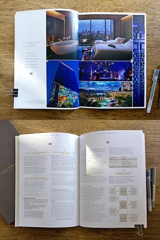 Direction artistique et mise en page d'une brochure pour Sofitel, Groupe Accor