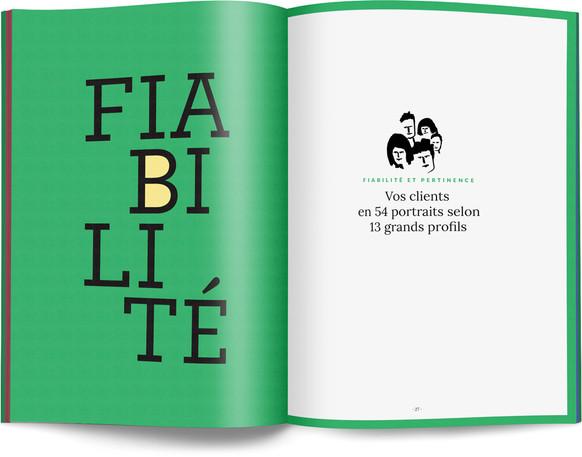 """Direction artistique, illustration et mise en page du """"Petit livre de la connaissance client par Néoprisme"""" pour le Groupe Cartégie / pp 26-27"""